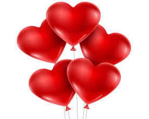 Балони сърце 5 бр.